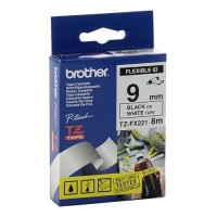 BROTHER 9mm Black on White Flexible етикетна лента