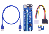 Mining Riser PCI Express 1x to 16x адаптер  USB- 60cm VER006