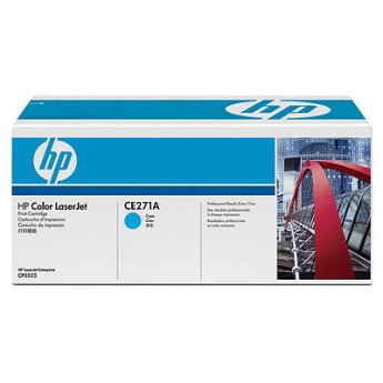HP Color LaserJet CE271A Cyan Print Cartridge Съвместимост for HP Color LaserJet CP5520Цвят CyanБрой страници 15,000 standard pages