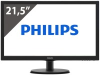"PHILIPS 223V5LHSB 21.5"" черен монитор"
