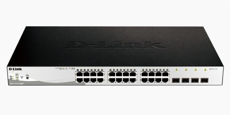 D-Link 28-Port Gigabit PoE+ Smart Switch including 4 SFP Ports комутатор