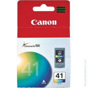 Canon CL-41 Colour IJ Cartridge (12ml) Canon Pixma MP140, MP150, MP160, MP170, MP180, MP190, MP210, MP450 & MP470, MX300, MX310 Multifunctions, iP1600 & iP1800 printers, Canon Pixma iP2600, iP6210D & iP6220D printers