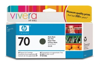 HP 70 130 ml Matte Black Ink Cartridge with Vivera Ink, HP Designjet Z2100, Z3100 Съвместимост : HP Designjet Z2100, Z3100Цвят : Matte BlackC9448A