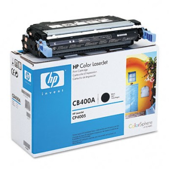 HP Color LaserJet CB400A Black Print Cartridge for CLJ CP4005, up to 7,500 pages Съвместимост : HP Color LaserJet CP4005Цвят : Черен CB400A