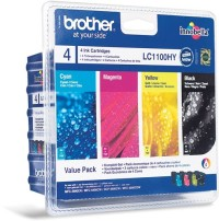Brother LC-1100HY BK/C/M/Y VALUE BP Ink Cartridge High Yield Set