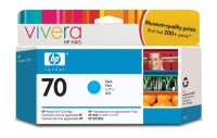 HP 70 130 ml Cyan Ink Cartridge with Vivera Ink, HP Designjet Z2100, Z3100