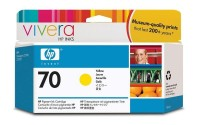 HP 70 130 ml Yellow Ink Cartridge with Vivera Ink, HP Designjet Z2100, Z3100