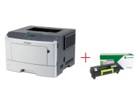 Lexmark MS317dn лазерен принтер + Lexmark MS/MX317 Return open channel Black CRTG 2.5K Toner