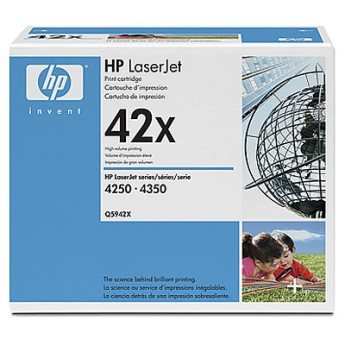 HP LaserJet Q5942X Dual Pack Black Print Cartridge for LJ 4250/4350, up to 20,000 pages each (2xQ5942X) Съвместимост : HP LaserJet 4250 and 4350 PrintersЦвят : ЧеренQ5942XD