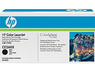HP Color LaserJet CE260X Black Print Cartridge Съвместимост : CP4525