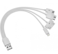 Кабел 5 в 1 USB - micro USB / USB 3.0/ iPhone 8 pin/30pin/SAMSUNG TAB 30 pin 0.15м