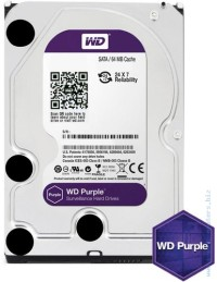 Твърд диск Western Digital Purple 6TB SATAIII 7200rpm 64MB за DVR/Наблюдение