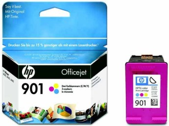HP 901 Tri-colour Officejet Ink Cartridge (9m), HP Officejet J4580 All-in-One Съвместимост : for HP Officejet J4580 All-in-OneЦвят : Cyan, magenta, yellowCC656AE