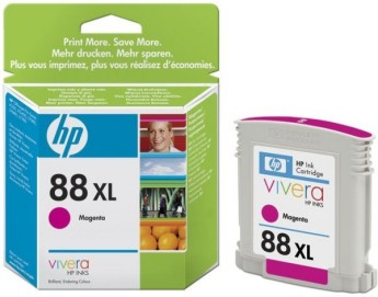 HP 88 Large Magenta Ink Cartridge Съвместимост : HP Officejet Pro K550 Colour PrinterЦвят : MagentaC9392AE