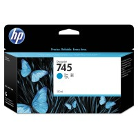 HP 745 Ink Cartridge Cyan 130 ml консуматив